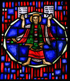 Цветное стекло в червях - Моисее и 10 заповедях Стоковые Изображения RF