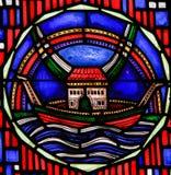 Цветное стекло в червях - Noah& x27; ковчег s Стоковая Фотография
