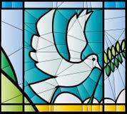Цветное стекло голубя Стоковое Фото