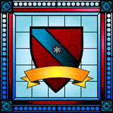 Цветное стекло гребня семьи Стоковые Изображения