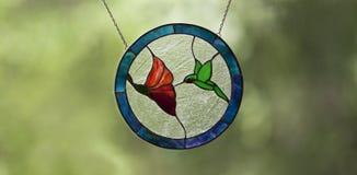 Цветное стекло колибри Стоковая Фотография