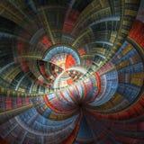 Цветное стекло красочной фрактали Стоковое Изображение