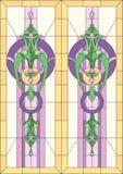 Цветное стекло/классический стиль бесплатная иллюстрация