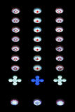 Цветное стекло объезжает картину Стоковая Фотография