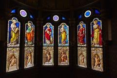 Цветное стекло от замка Blois стоковые изображения rf