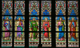 Цветное стекло - римско-католические Святые стоковая фотография rf
