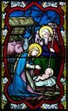 Цветное стекло рождества Стоковые Изображения RF