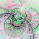 Цветное стекло светлой и красочной фрактали Стоковые Изображения RF