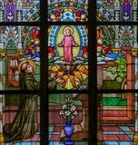 Цветное стекло - Святой Антоний Падуи стоковые изображения rf