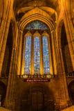 Цветное стекло собора Ливерпуля Стоковое фото RF