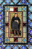 Цветное стекло с Гамлет стоковая фотография rf