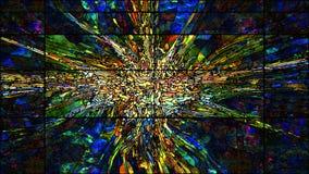 Цветное стекло цифров Стоковое Изображение