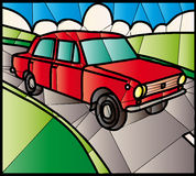 Цветное стекло Lada Стоковая Фотография