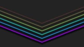 Цветной радуга неон стреляет абстрактной анимацией иллюстрация вектора