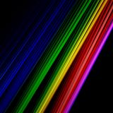 Цветные барьеры на черной предпосылке бесплатная иллюстрация