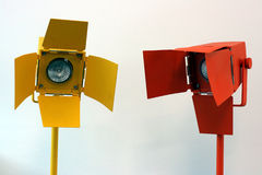 цветные лампы Стоковая Фотография