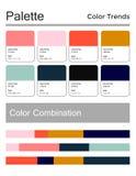 Цветовая палитра, гармоничная комбинация, коды и имена Цвета моды для использования в сети, одеждах, интерьерах и тканях бесплатная иллюстрация