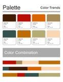 Цветовая палитра, гармоничная комбинация Цвета моды для использования в дизайне, сети, одеждах, интерьерах и тканях вектор иллюстрация вектора