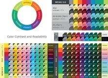Цветовой контраст и считываемость между текстом и цветами предпосылки бесплатная иллюстрация
