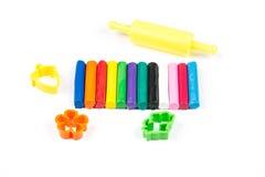 12 цветов комплекта глины моделирования Стоковые Фотографии RF