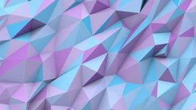 Цветов треугольников сирени предпосылка формы голубых абстрактных поли геометрическая Стоковое Изображение