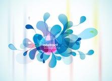 Цветок абстрактной голубой предпосылки напоминая. иллюстрация вектора