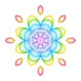 Цветок абстрактной радуги геометрический на белом фоне иллюстрация штока