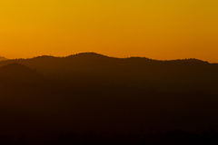 Цветок ландшафта силуэта неба горы Стоковое Фото