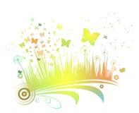 цветок бабочки предпосылки Стоковая Фотография RF