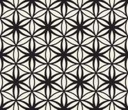 Цветок вектора безшовный черно-белый картины круга геометрии жизни священной Стоковое Изображение