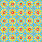 Цветок вектора картины безшовный иллюстрация вектора