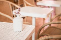 цветок в украшении вазы на таблице Стоковое Фото