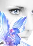 цветок глаза Стоковая Фотография