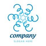 Заводы сини логоса Стоковое Изображение RF