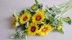 Цветок глины, букет солнцецвета Стоковое Изображение