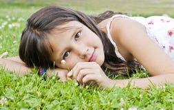 Цветок девушки Стоковая Фотография