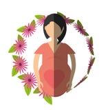 цветок женщины беременный - тень бесплатная иллюстрация