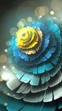 Цветок заморозка фрактали стоковые фотографии rf