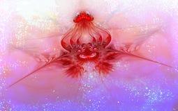 Цветок звезды абстрактный на загадочное мерцающем Стоковое Фото