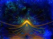 Цветок звезды абстрактный на загадочное мерцающем Стоковое Изображение