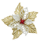 Цветок игрушки рождества на белой предпосылке Стоковое Фото
