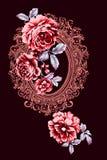 цветок иллюстрации в простой предпосылке Стоковые Фотографии RF