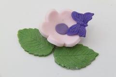 Цветок и бабочка миндалины Стоковые Изображения RF