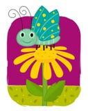 Цветок и бабочка Стоковое Изображение