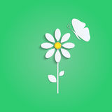 Цветок и бабочка Стоковые Фото