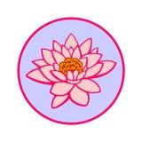 Цветок лилии воды в круге Стоковые Фото
