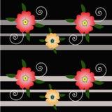Цветок и линия предпосылки иллюстрация вектора