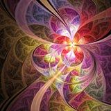 Цветок или бабочка покрашенные пастелью Стоковое Фото
