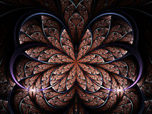 Цветок или бабочка фрактали Стоковое Изображение