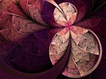 Цветок или бабочка цветного стекла Стоковое Изображение RF